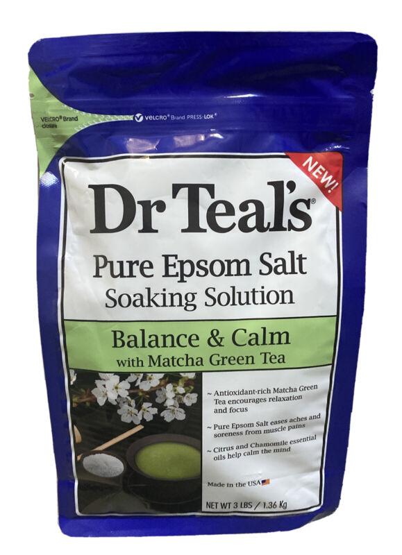 DR TEALS Pure Epsom Salt Soaking Solution Coconut Oil With Matcha Green Tea