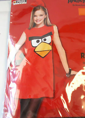 Angry Birds Red Bird Child Costume 7-8 10-12 Tween 14-16 NWT