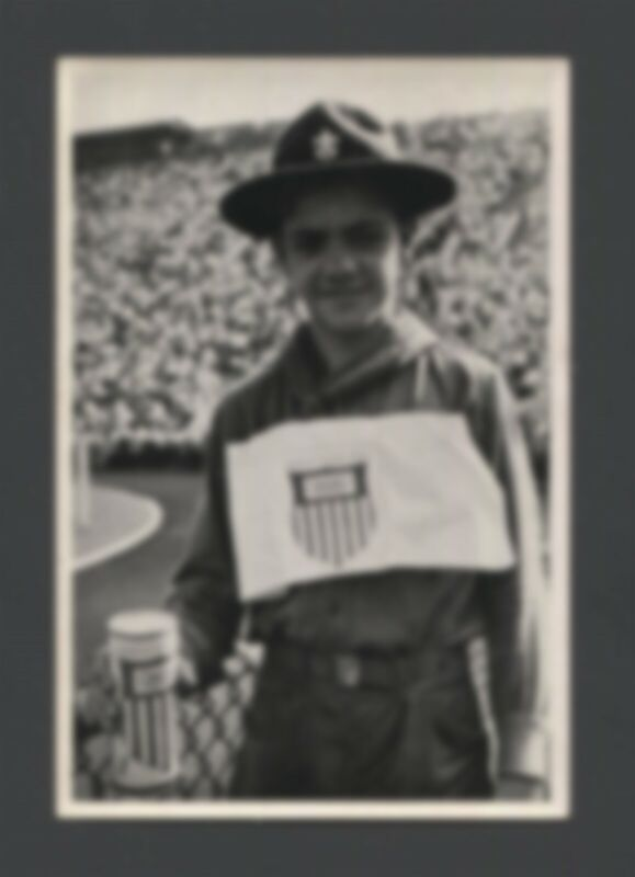 ⚜ BSA Scout on 1936 German Olympics Collector Card - Band 1 #112 Black & White