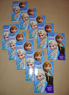DISNEY FROZEN MINI COLORING BOOKS w/35 stickers- LOT of 10 BIRTHDAY PARTY FAVORS - Frozen Coloring Games