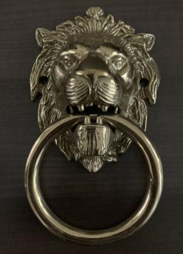 Lion Head Shape Door Knocker Victorian Style Brass Home Door Knocker Door