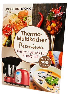 Gourmetmaxx Thermo Multikocher Premium 10in1 Rezeptbuch 100 Rezepte Rezept Buch