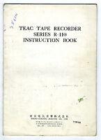 Teac - R-110 User Manual Original Book 1968 -  - ebay.es