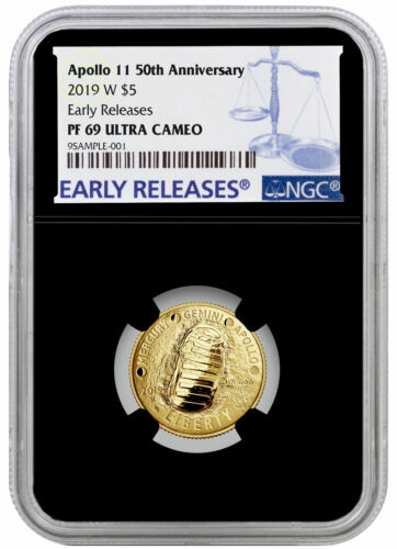 2019 W Apollo 11 50th Annv $5 Gold Commemorative NGC PF69 ER Black Core SKU57249