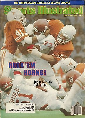 For sale TEXAS LONGHORNS FOOTBALL BEDFORD HOLLE 1981 SPORTS ILLUSTRATED FRED AKERS