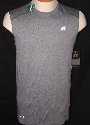 Russell Athletic Athletic Tank Top - RUSSELL ATHLETIC MEN'S DRY POWER 360 MUSCLE TEE TANK TOP - GREY SIZES S-3XL NWT