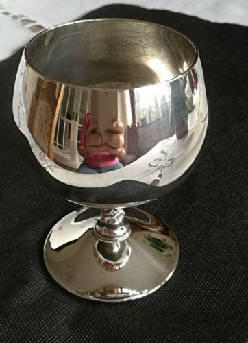 Falstaff Silver Plated Wine Goblet 1970s