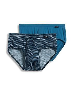 Jockey Mens Elance Poco Brief 2 Pack Underwear Briefs 100  Cotton