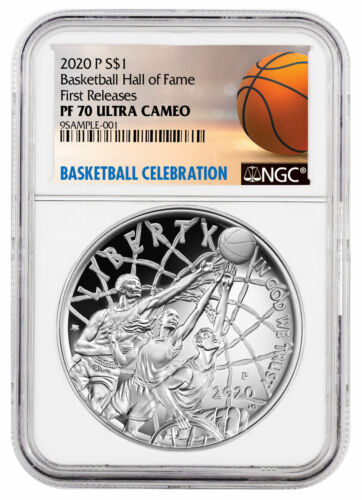 2020 P $1 Basketball Hall of Fame Silver Dollar Proof Coin NGC PF70 FR Delay