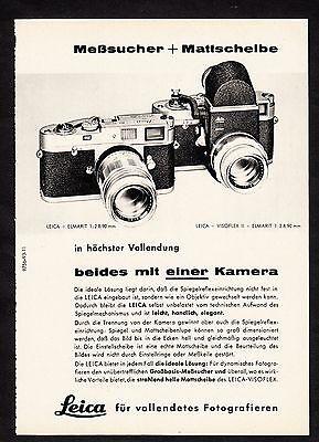 3w1681/ Alte Reklame von 1960 - LEICA für vollendetes Fotografieren.