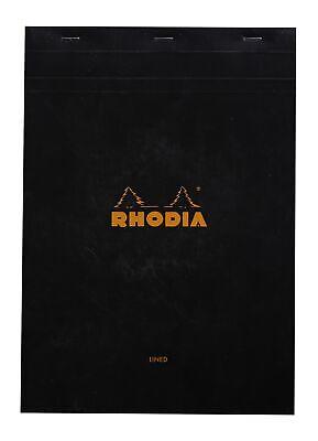 Rhodia Staplebound Notebook 6 X 8 Lined Paper Black