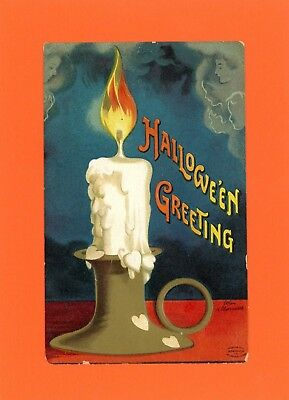 Halloween Vintage Ellen Clapsaddle Artist Stigned Postcard - International Art - Ellen Clapsaddle Halloween Postcards