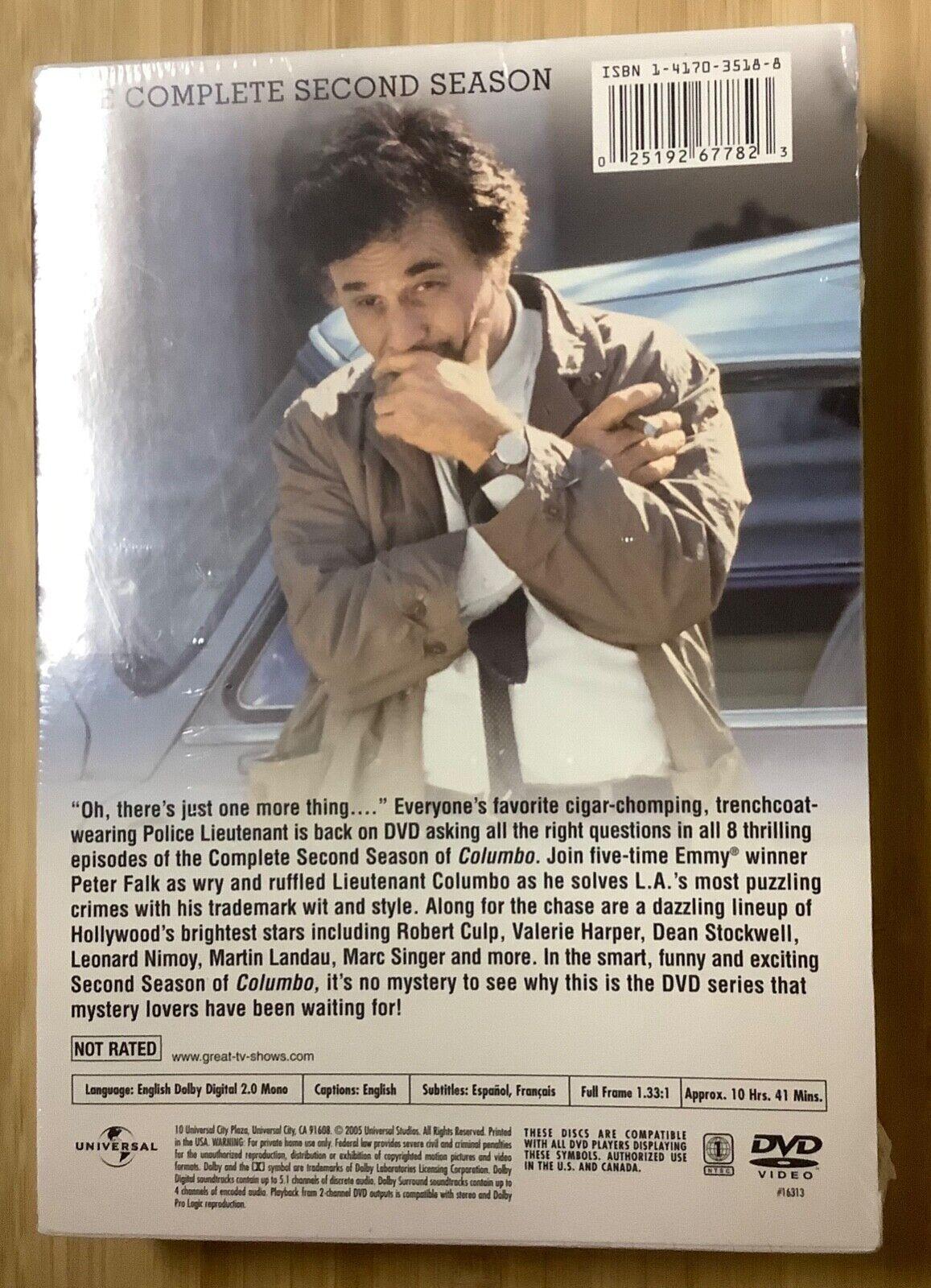Columbo 1972-3 DVD Set Second Season Peter Falk NEW SEALED - $15.00