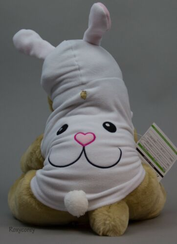 Wag & Bone Easter Happy White Bunny Hoodie Pet Dog Coat Size Small NWT