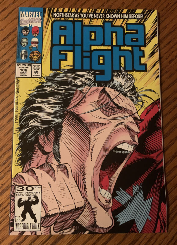 Marvel Alpha Flight #106 March 1992 Northstar Comes Out key
