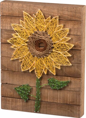 NEW!~Slat Wood String Art Sign~Sunflower~Wall Art~Country/Vintage/Primitive/Fall