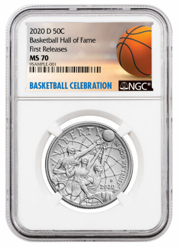 2020D Basketball Hall of Fame Commemorative Clad Half Dollar NGC MS70 FR Delay