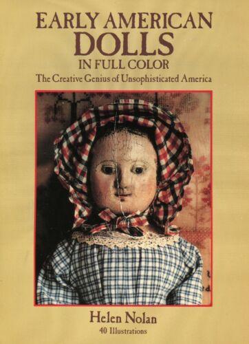 Early American Antique Dolls Folk Rag Wood.../ Scarce Illustrated Booklet