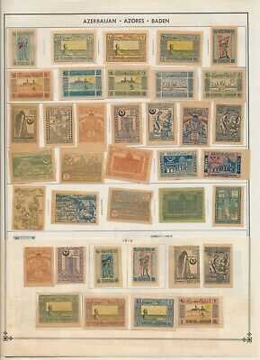 Azerbaijan: 37 Stamps on a Harris Album page. All Mint-Hinged. All NG
