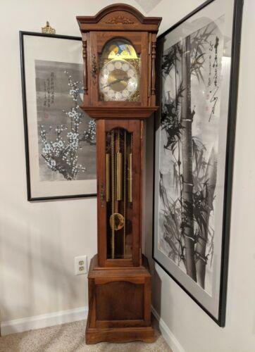 Emperor Grandfather Clock w/Franz Hermle Westminster 8-Day Calendar Movement