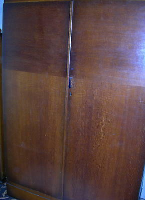 Antique Vintage 20 c English Armoire Wardrobe early 1900's Original Compactom