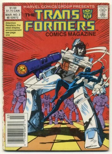 TRANSFORMERS COMICS MAGAZINE #2; 1987 Marvel GD