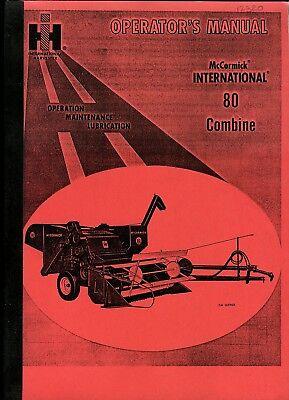Ihc 80 Combine Operators Manual 1964 Photocopy