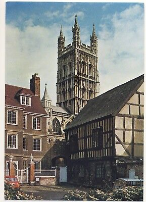 Old Postcard - Gloucester Cathedral from Millers Green - Unposted M131