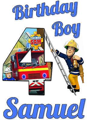 Fireman Custome (Fireman Sam Custom Tshirt Personalize birthday gift Tee infant, toddler,)