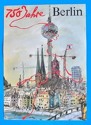 DDR Plakat Poster 988 | 750 Jahre Berlin 1987 | 81 x 57 cm Original Bodecker