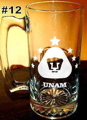 Laser Engraved Beer - PUMAS UNAM sport Beer Mug 26.5 oz Personalized Laser Engraved TARRO, free shippi