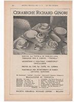 Pubblicità Epoca 1934 Richard Ginori Vintage Advert Werbung Publicitè Reklame -  - ebay.it