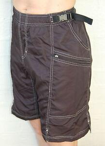 MTB-Cycling-bike-Shorts-Knicks-pants-2-layers-with-Chamios-pad-Grey-Black-S
