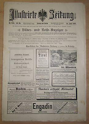 ILLUSTRIERTE ZEITUNG  - LEIPZIG & BERLIN Ausgabe 28.April 1898