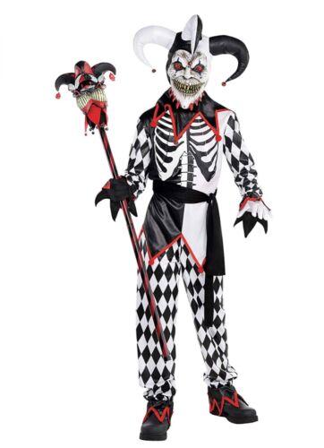 Halloween costume Sinister Jester Child Clown Costume Size medium 8-10