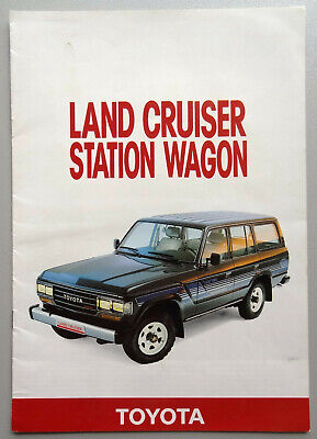 V12596 TOYOTA LAND CRUISER STATION WAGON - CATALOGUE - 05/88 - A4 - FR FR