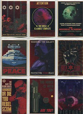 Star Wars Chrome Perspectives Complete Empire Propaganda Chase Card Set 1-10
