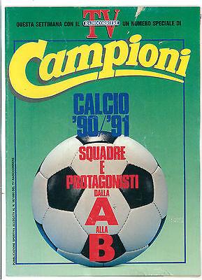 TV RADIOCORRIERE CAMPIONI N. 15 SETTEMBRE 1990 CALCIO CAMPIONATO SERIE A '90/'91