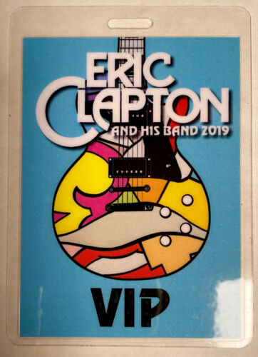 ERIC CLAPTON 2019 VIP LAMINATED BACKSTAGE PASS BLUE