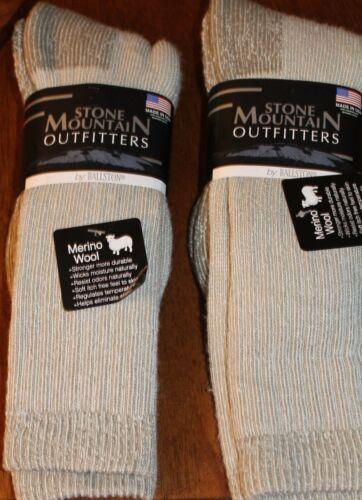 2 Pairs Men / Women 70%  Wool Stone Mountain Outfitter Sz 10-13 Free Shipping #3