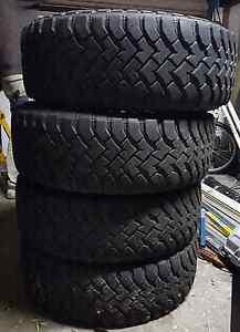 Mud terrain Hankook Dynapros tyres R16/285/75 Fern Bay Port Stephens Area Preview