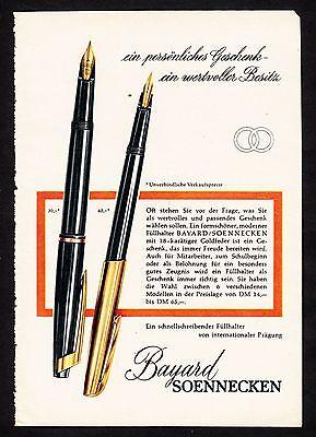 3w1649/ Alte Reklame von 1960 - Füllhalter von BAYARD / SOENNEKEN.