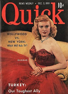 Quick News Weekly Magazine 1951 December 3 News Entertainment Photos