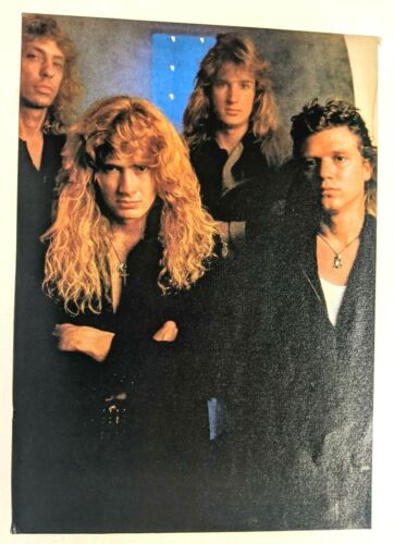 MEGADETH / CHRIS POLAND / BAND MAGAZINE FULL PAGE PINUP POSTER CLIPPING (19)