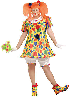 Giggles The Clown Women Adult Costume Polka Dotted Fancy Dress Forum Novelties](Giggles Adult)