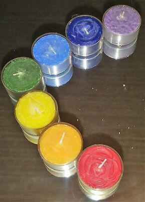 Set of 7 Chakra Tea Light Candles scented - reiki meditation gift