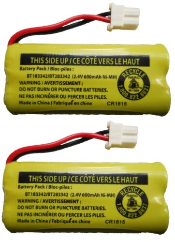 New! Battery BT183342 / BT283342 for Vtech AT&T Cordless Telephones (2-Pack)