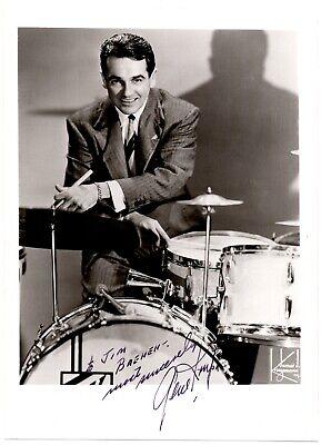 Vintage B W Photograph - Signed By Gene Krupa - Big Band Jazz Drummer - $75.00