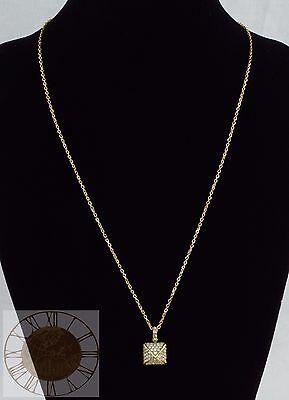 Michael Kors Women's Gold Tone Pave Pyramid Pendant Necklace MKJ2859, New