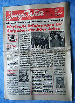 Junge Welt Tageszeitung FDJ 14.4.1981 Manifestation Berlin Bericht X. Parteitag
